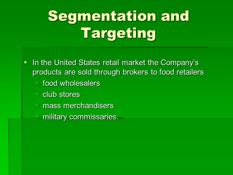 Segmentation and Targeting