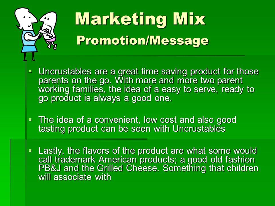 Marketing Mix Promotion/Message