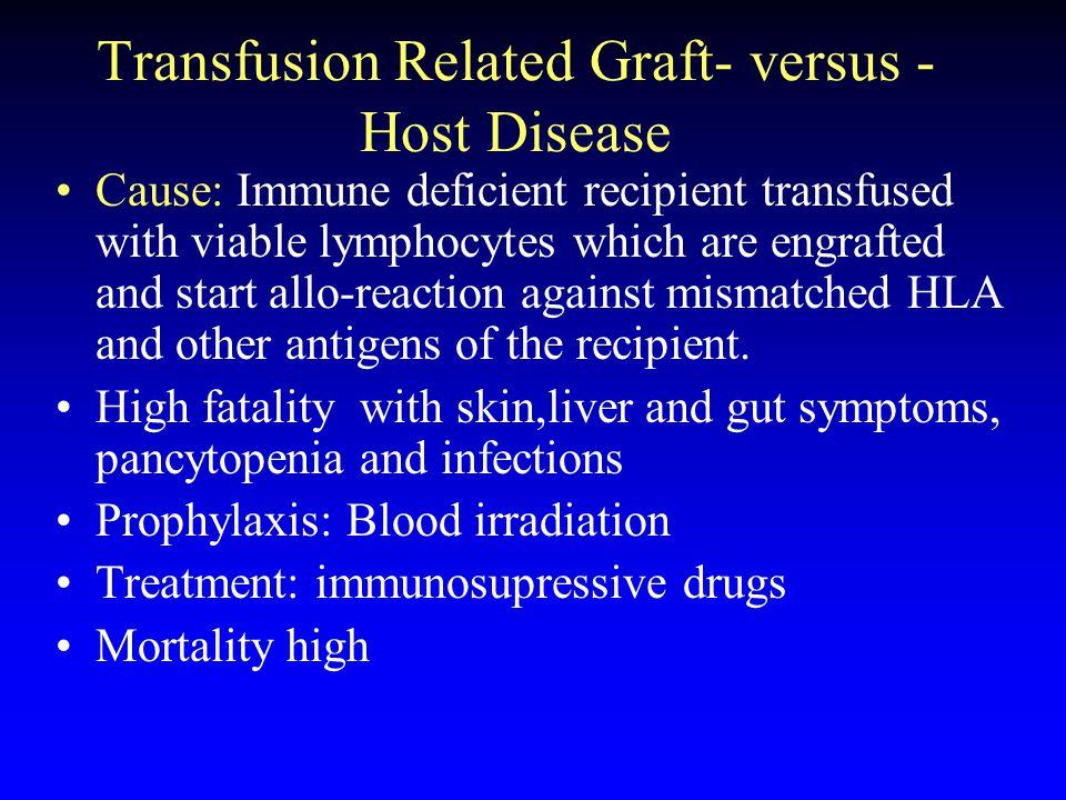Transfusion Related Graft- versus -Host Disease