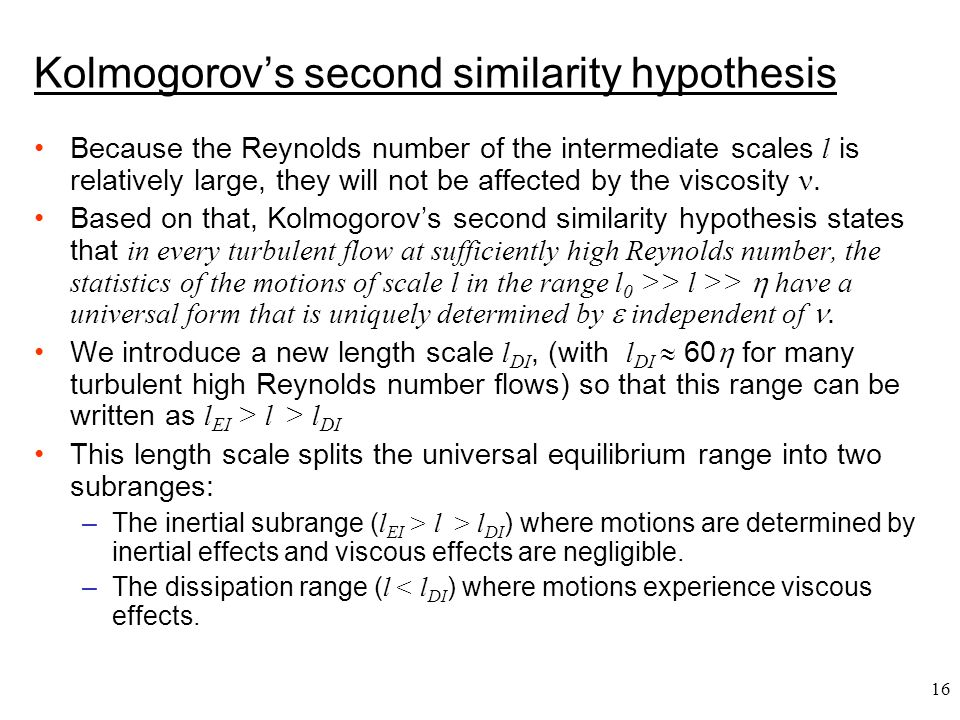 Kolmogorov's second similarity hypothesis