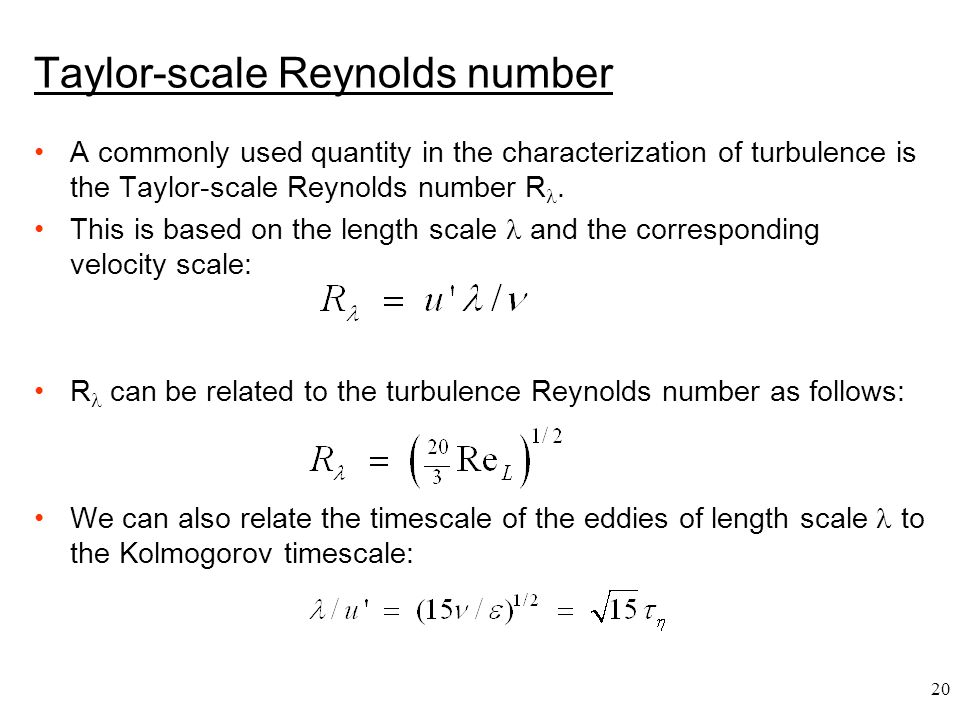 Taylor-scale Reynolds number