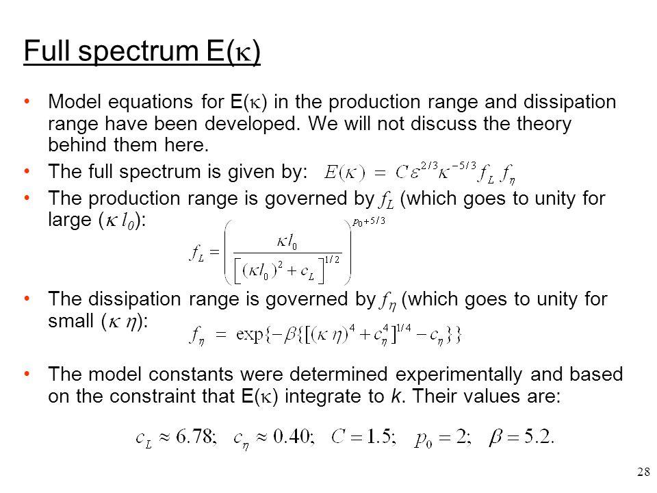 Full spectrum E()