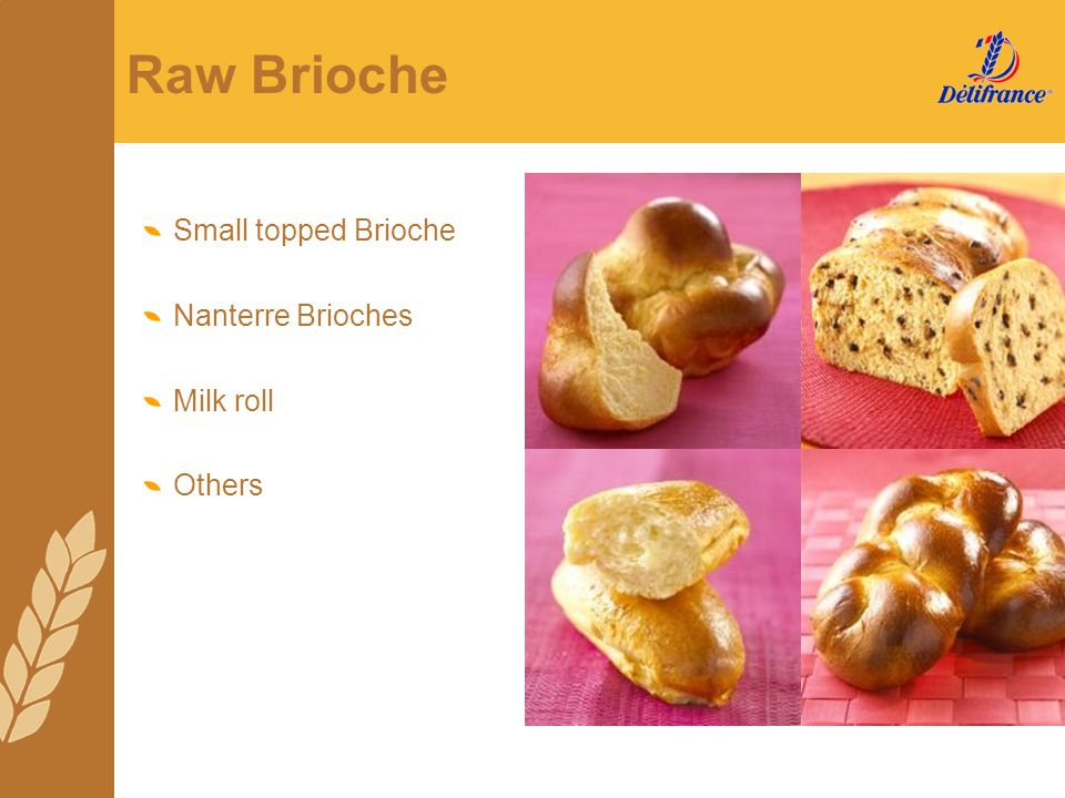 Raw Brioche Small topped Brioche Nanterre Brioches Milk roll Others
