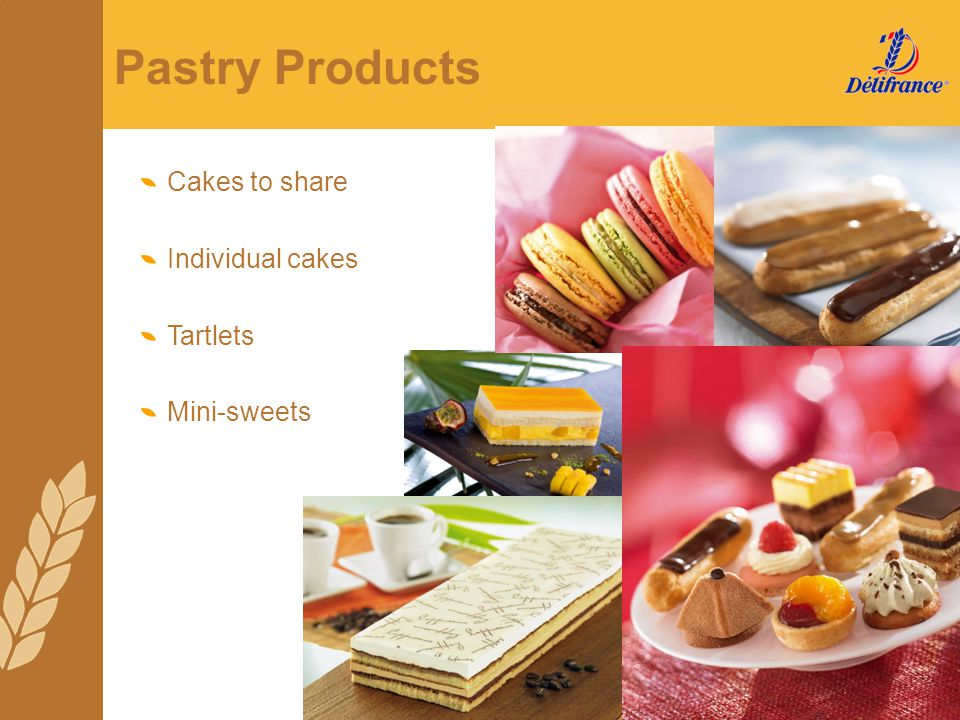 Pastry Products Cakes to share Individual cakes Tartlets Mini-sweets