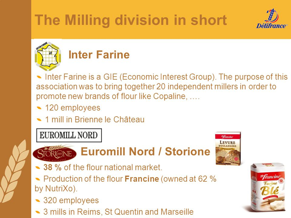The Milling division in short