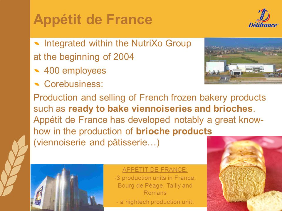 Appétit de France Integrated within the NutriXo Group