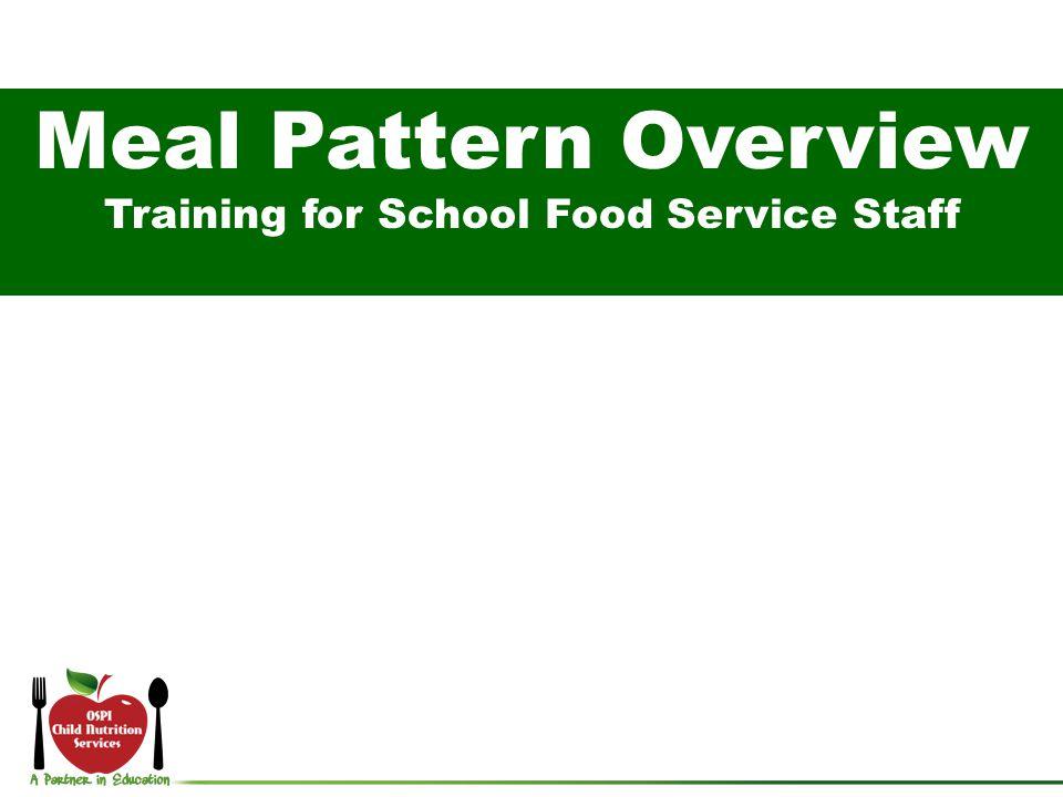 Training for School Food Service Staff
