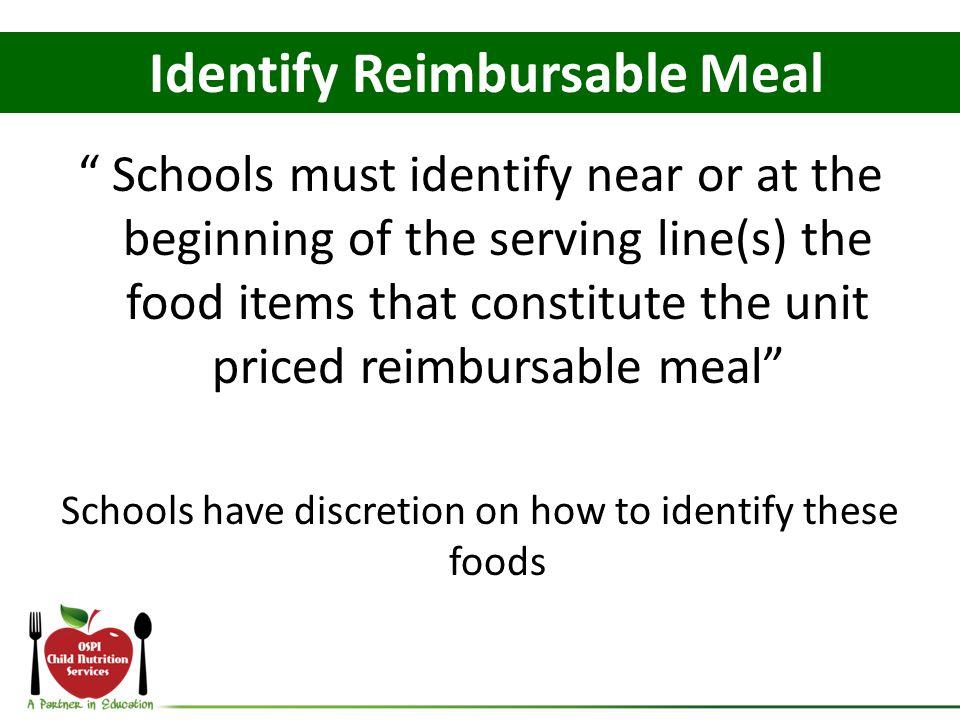 Identify Reimbursable Meal