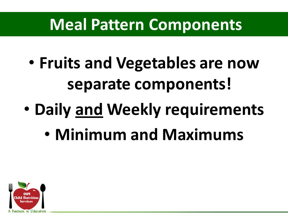 Meal Pattern Components