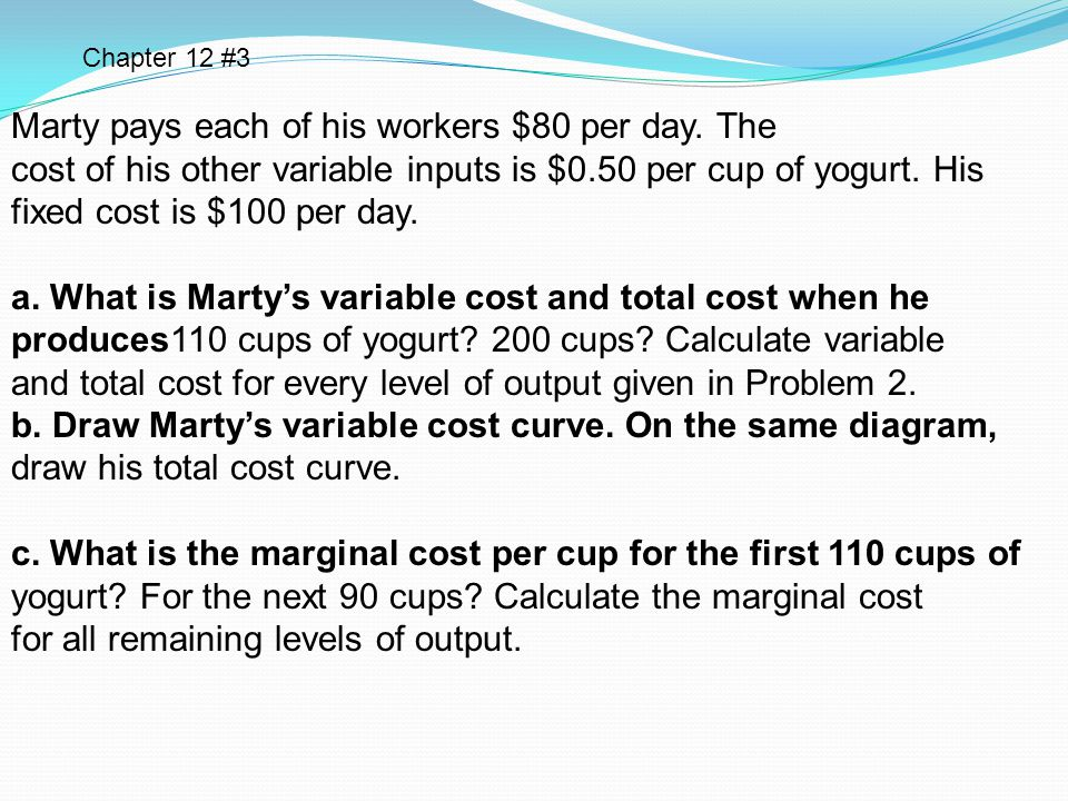 Marty pays each of his workers $80 per day. The