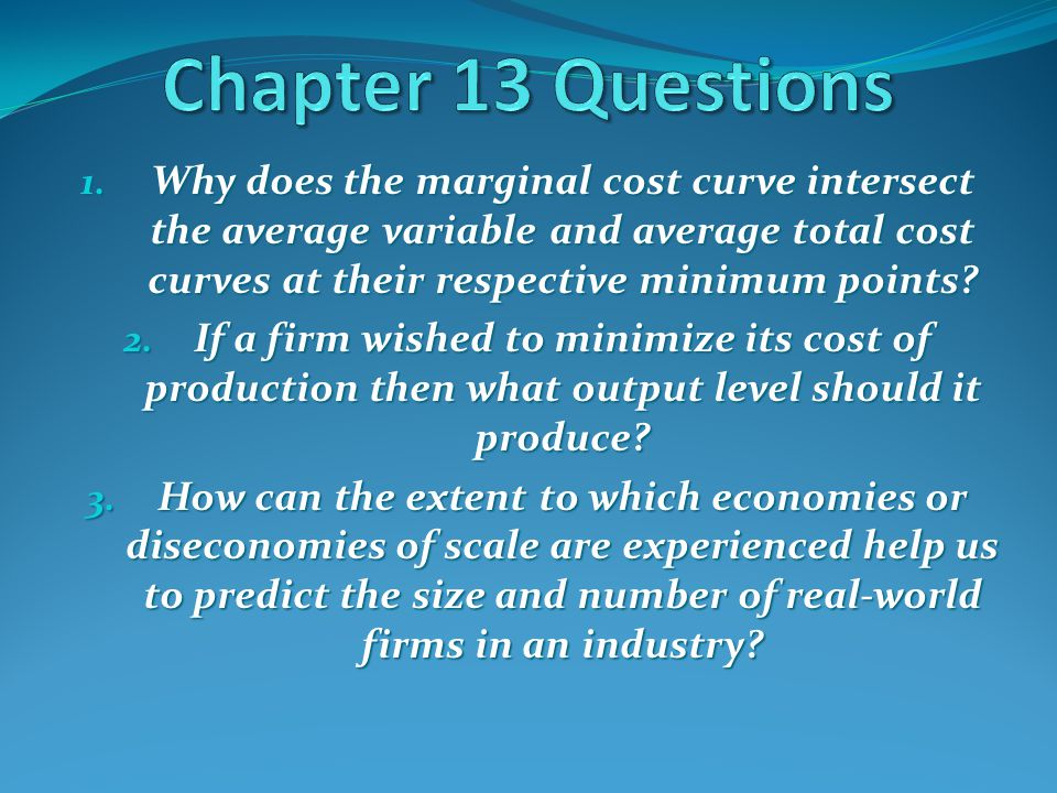 Chapter 13 Questions