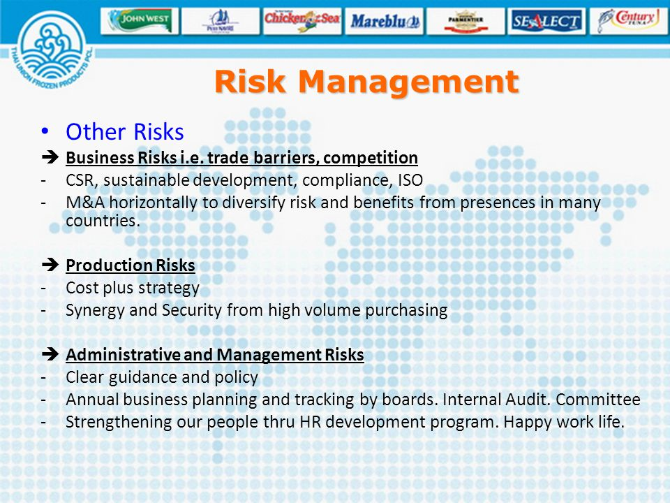 Risk Management Other Risks