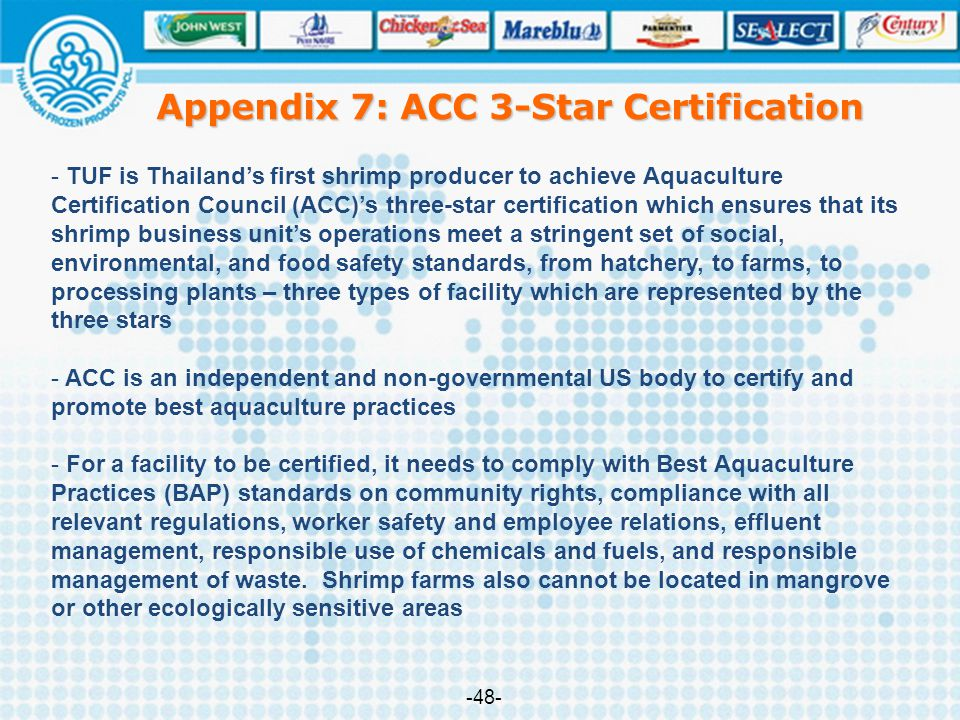 Appendix 7: ACC 3-Star Certification