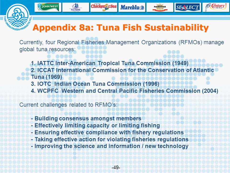Appendix 8a: Tuna Fish Sustainability