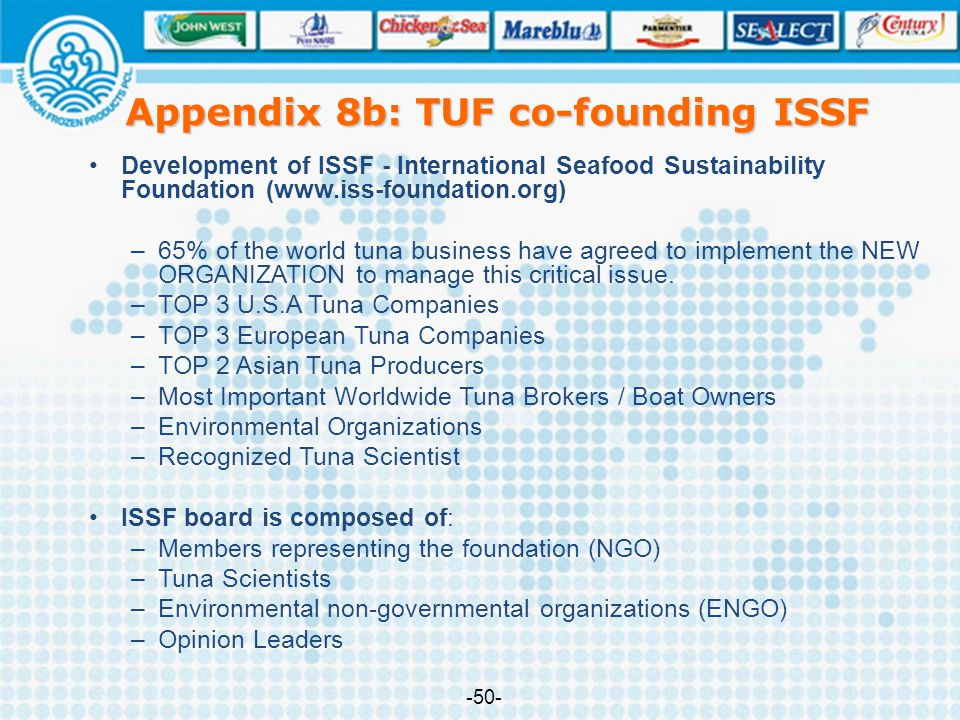 Appendix 8b: TUF co-founding ISSF