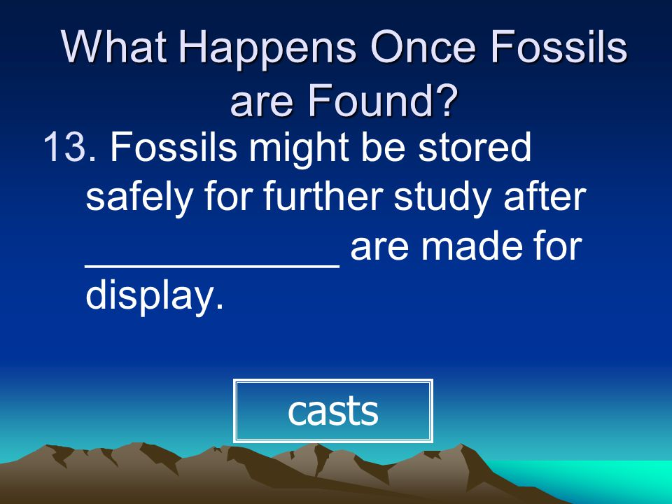 What Happens Once Fossils are Found