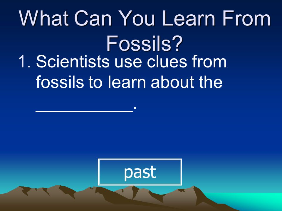 What Can You Learn From Fossils