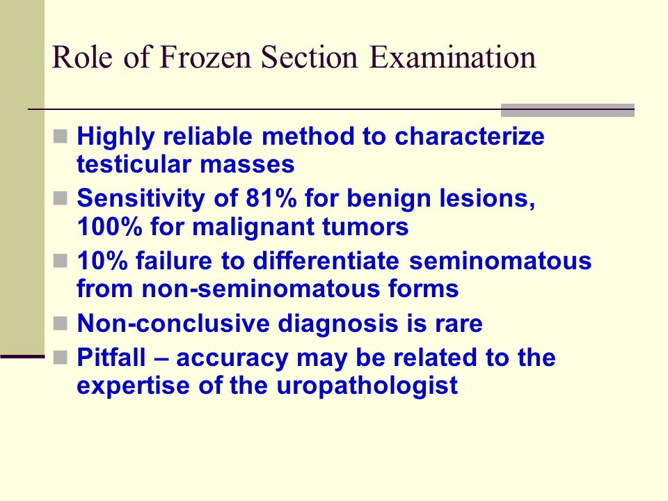 Role of Frozen Section Examination