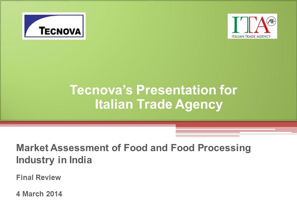 Tecnova's Presentation for Italian Trade Agency