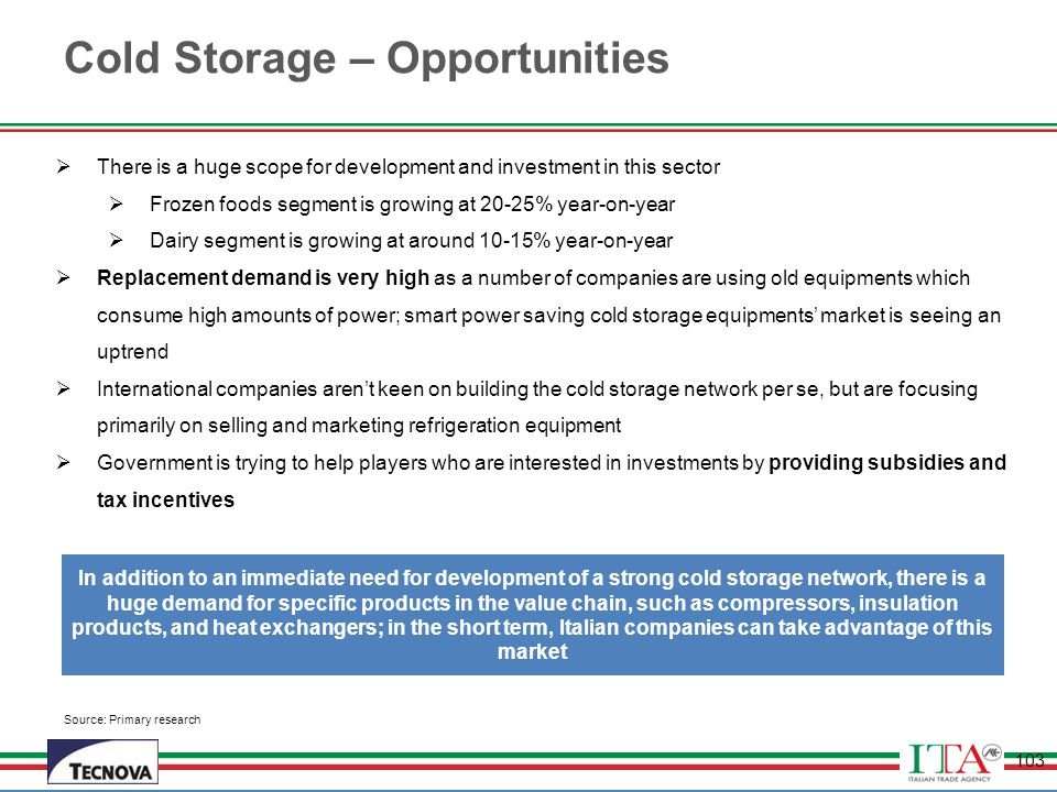 Cold Storage – Opportunities
