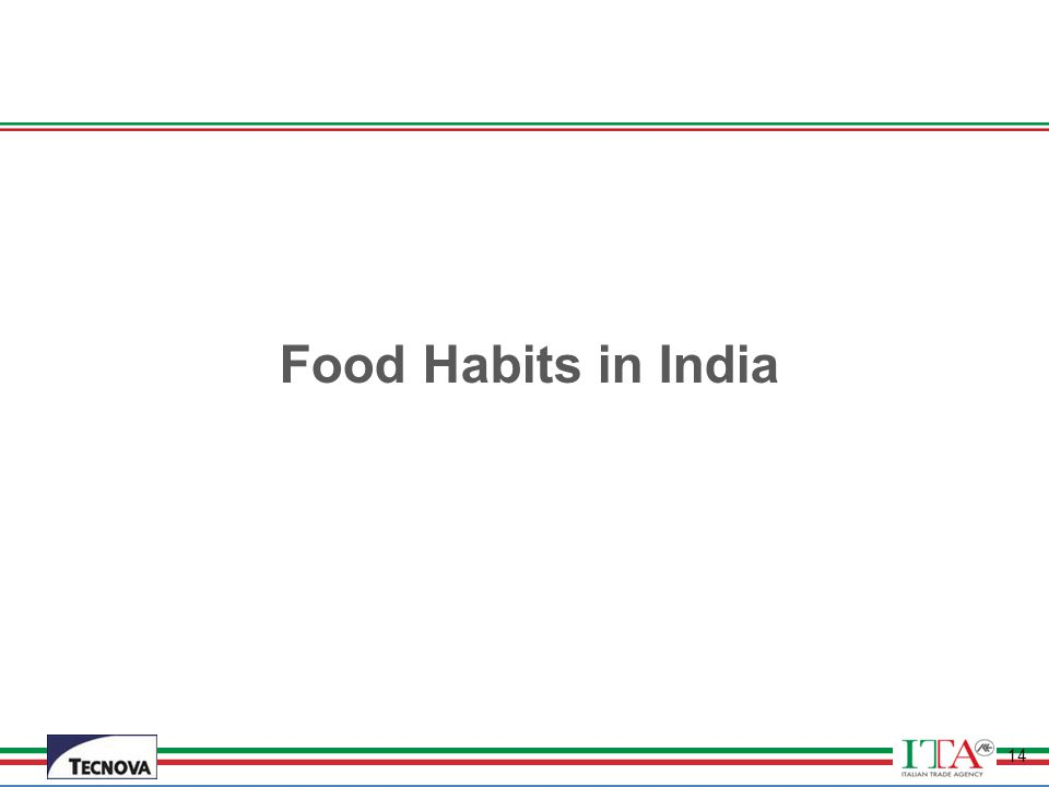 Food Habits in India
