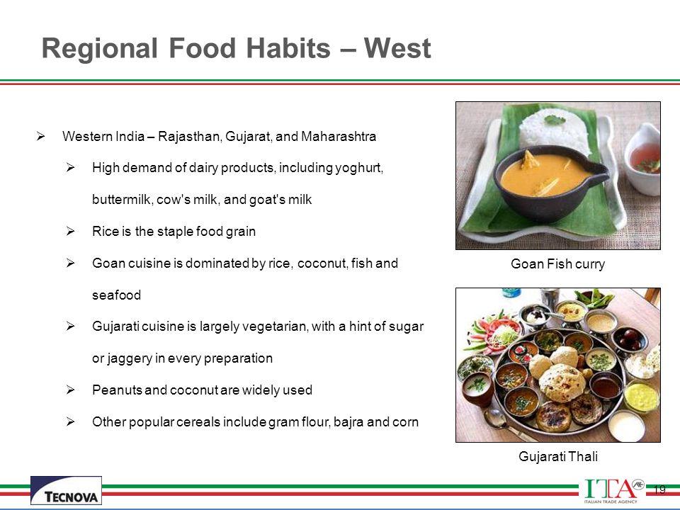 Regional Food Habits – West
