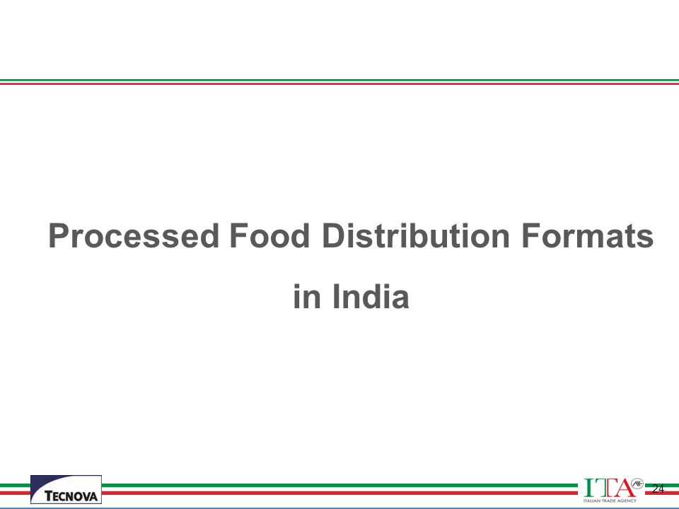 Processed Food Distribution Formats in India