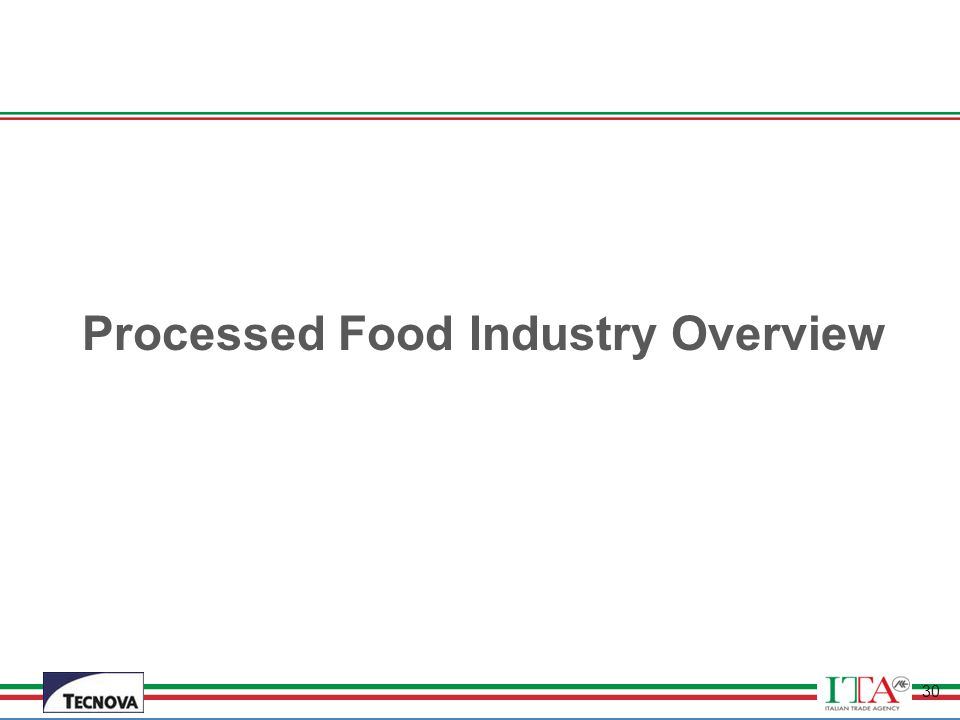 Processed Food Industry Overview