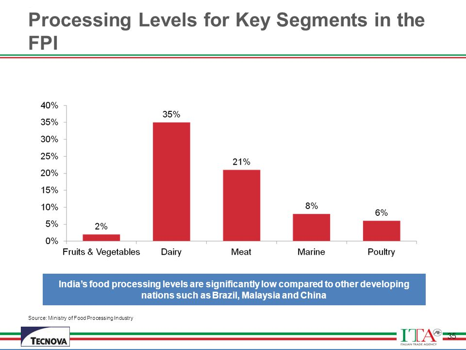 Processing Levels for Key Segments in the FPI