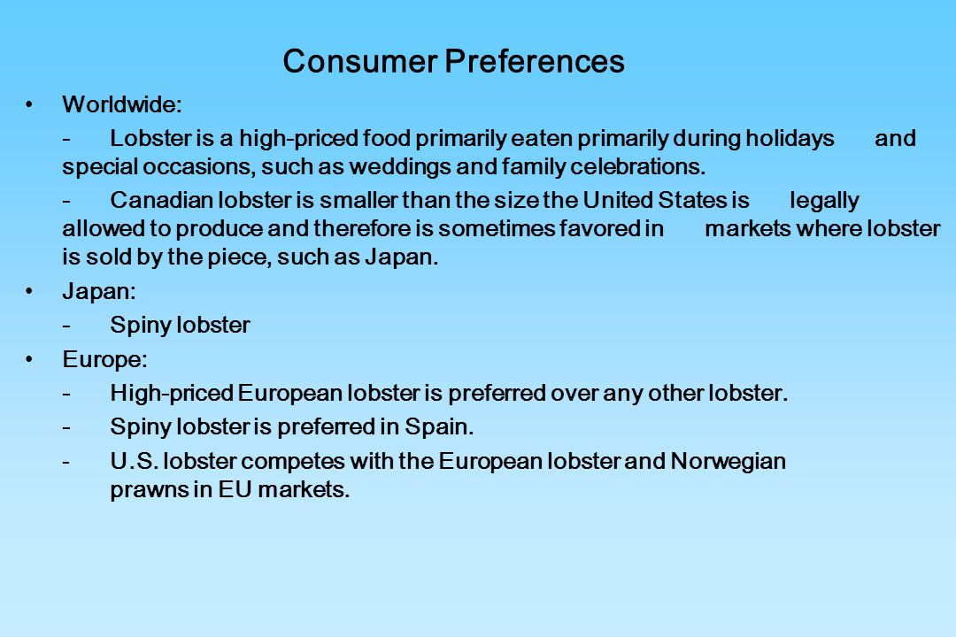 Consumer Preferences Worldwide: