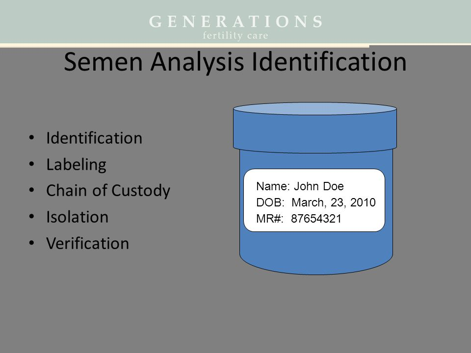 Semen Analysis Identification