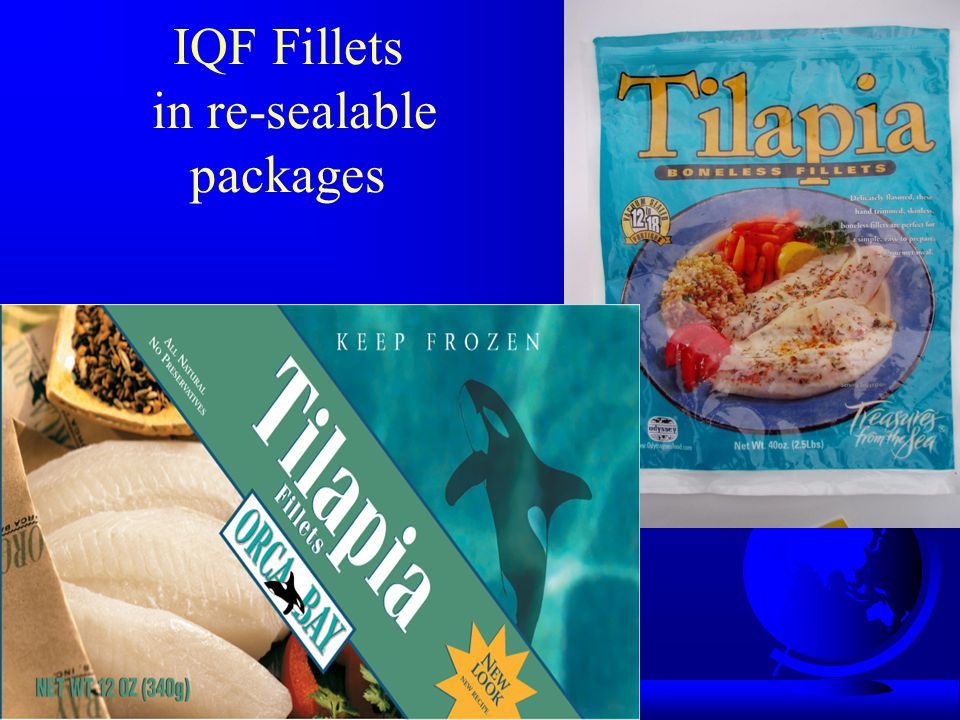 IQF Fillets in re-sealable packages
