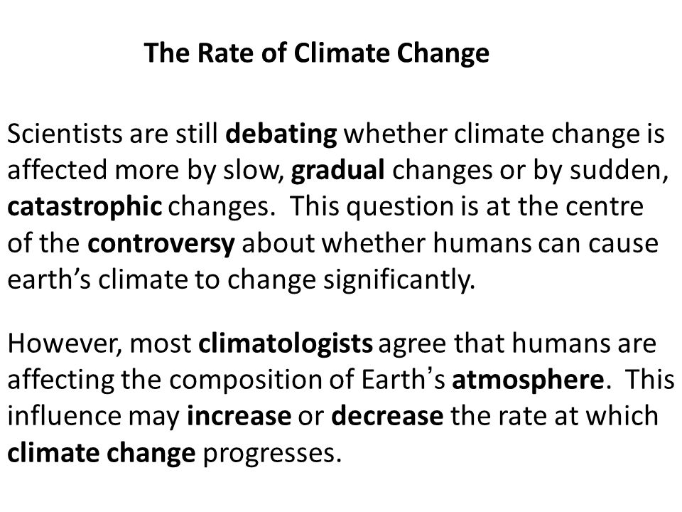 The Rate of Climate Change