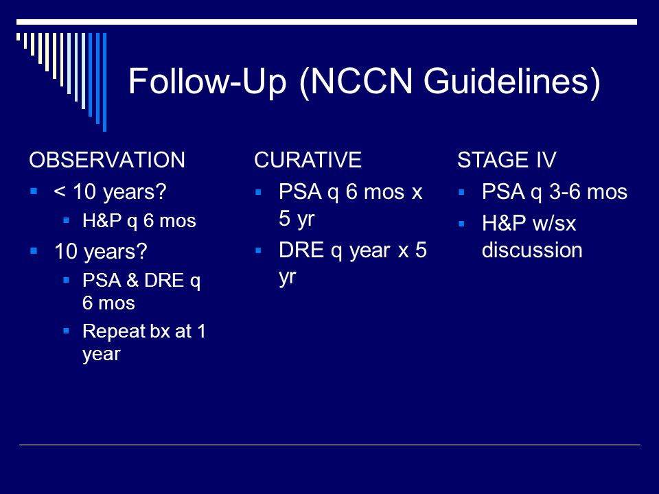 Follow-Up (NCCN Guidelines)