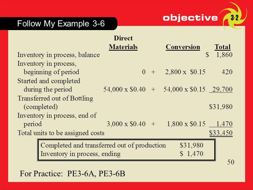 For Practice: PE3-6A, PE3-6B