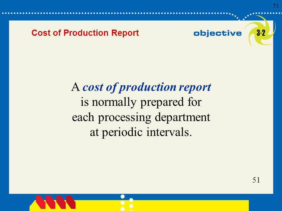 Cost of Production Report 3-2.