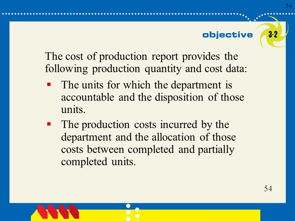 3-2 The cost of production report provides the following production quantity and cost data: