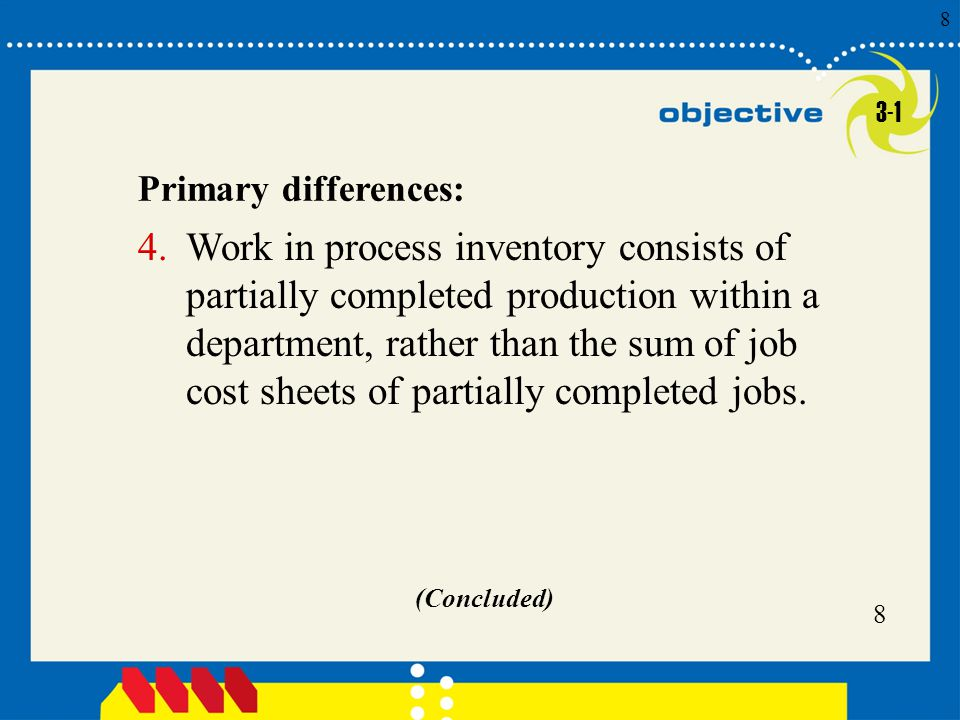 3-1 Primary differences:
