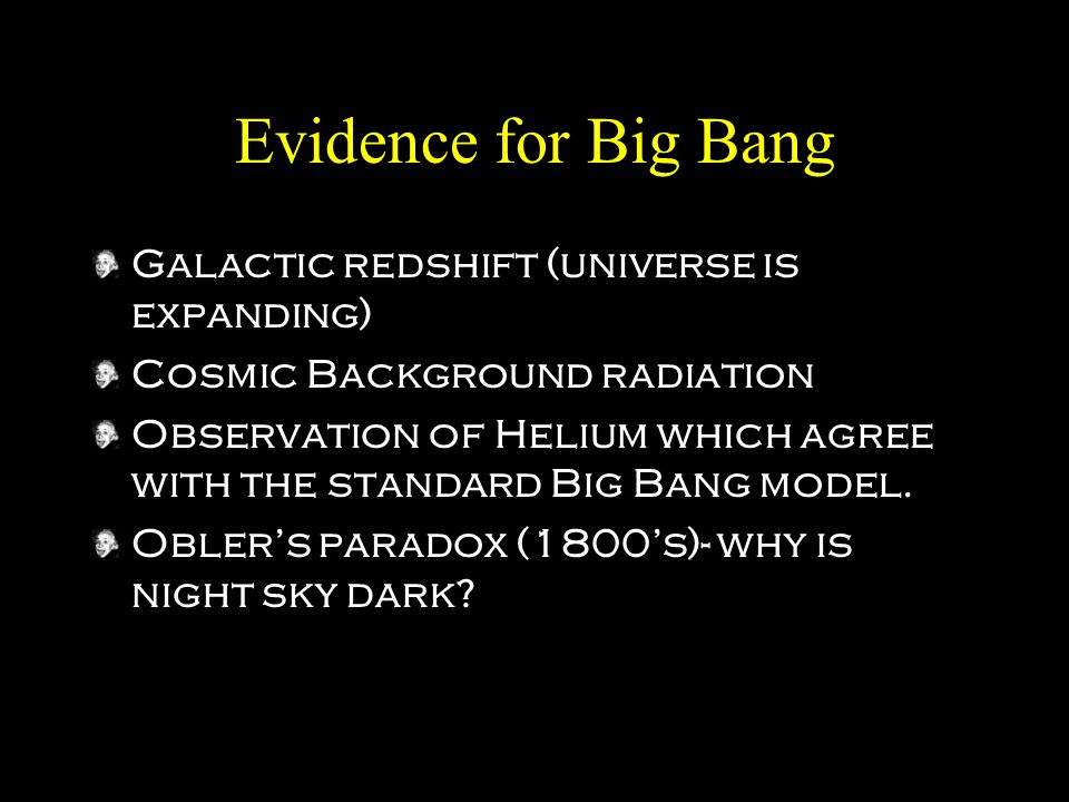 Evidence for Big Bang Galactic redshift (universe is expanding)