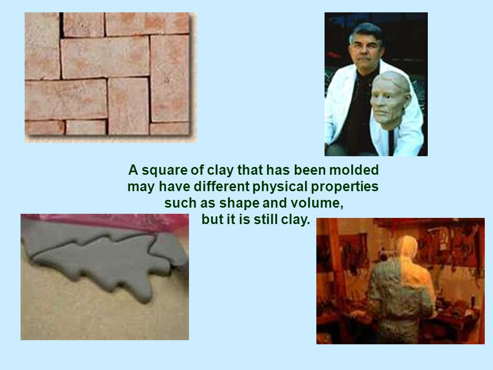 A square of clay that has been molded