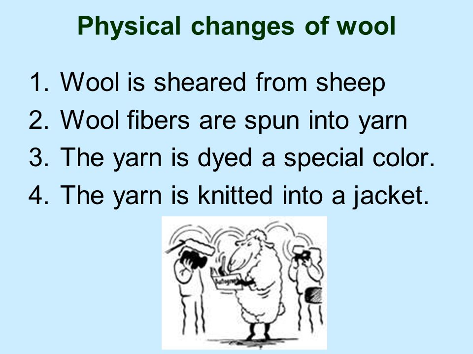 Physical changes of wool