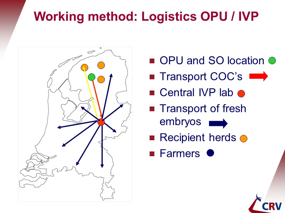 Working method: Logistics OPU / IVP