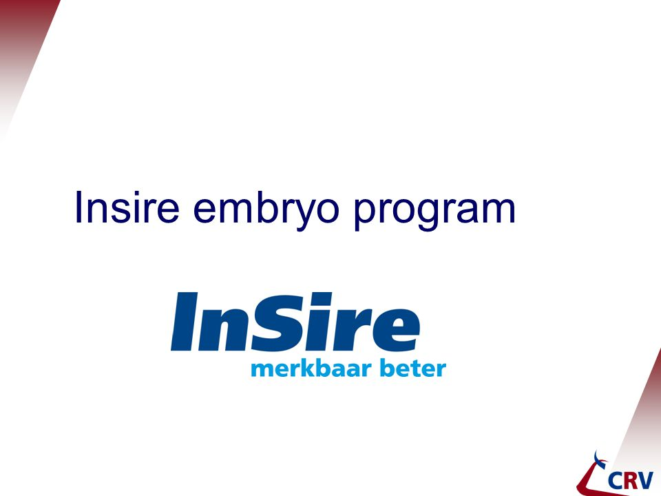 Insire embryo program