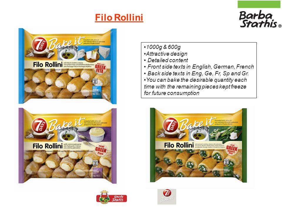 Filo Rollini 1000g & 600g Attractive design Detailed content