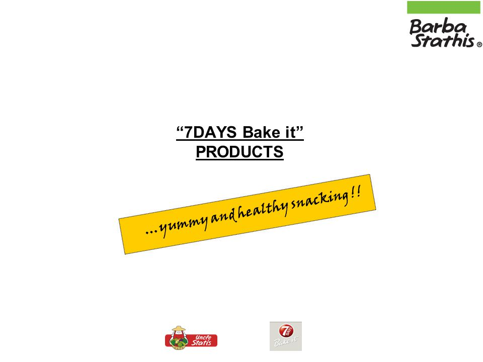 7DAYS Bake it PRODUCTS