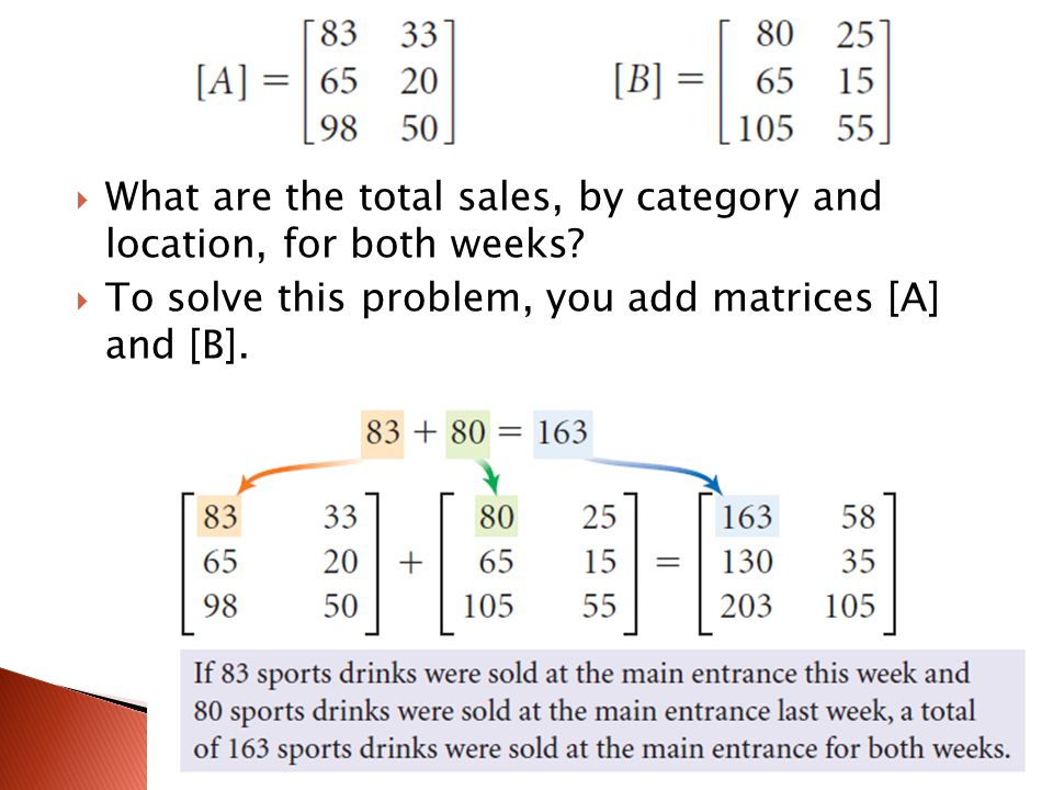 What are the total sales, by category and location, for both weeks