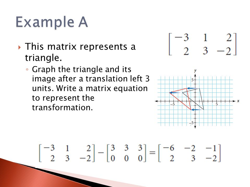 Example A This matrix represents a triangle.