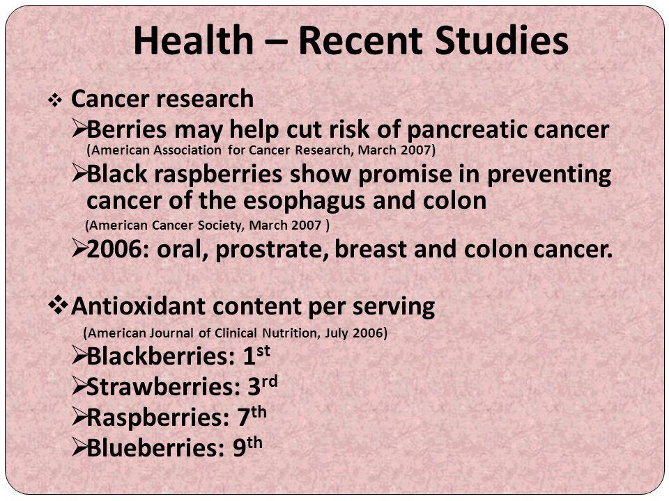 Health – Recent Studies