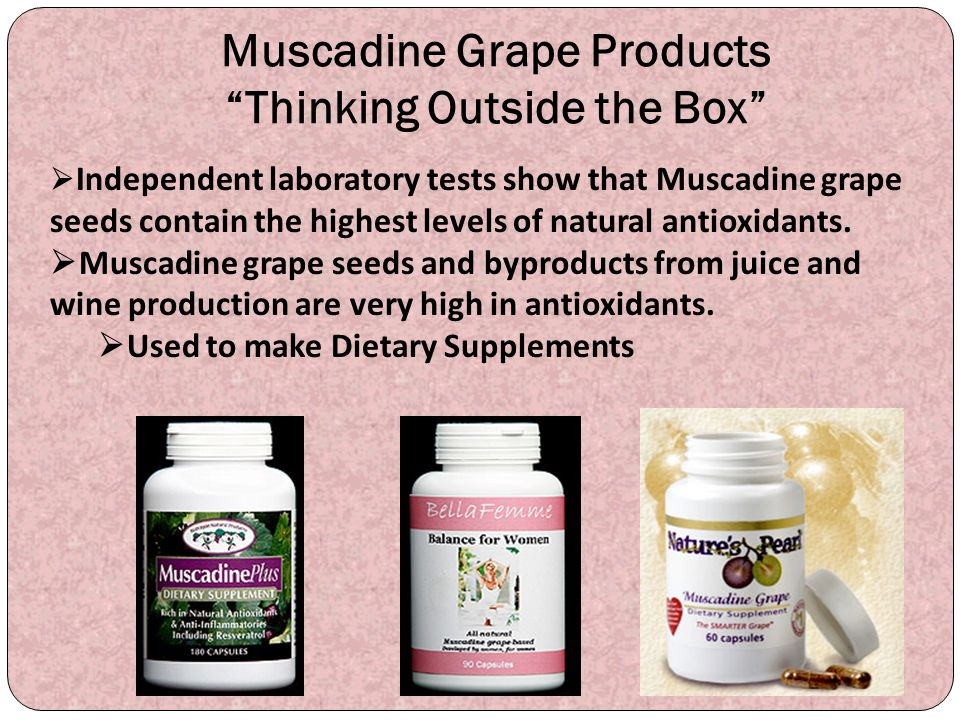 Muscadine Grape Products Thinking Outside the Box