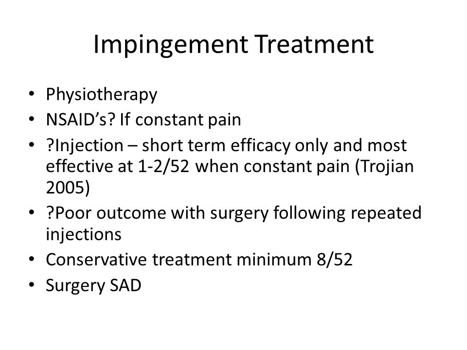 Impingement Treatment